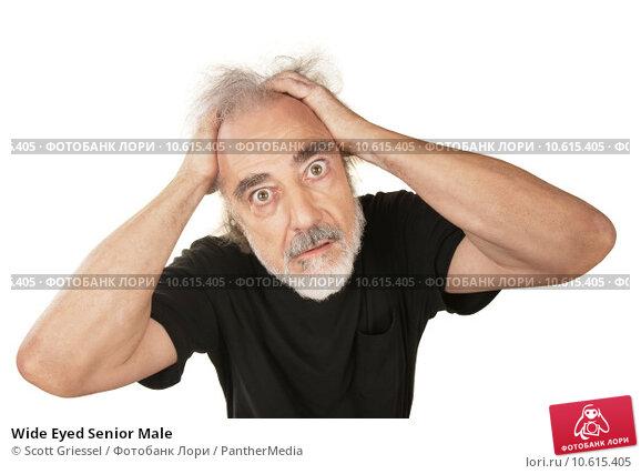 Wide Eyed Senior Male. Стоковое фото, фотограф Scott Griessel / PantherMedia / Фотобанк Лори