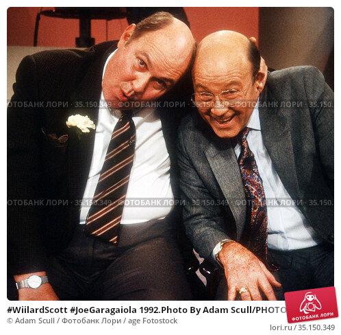 #WiilardScott #JoeGaragaiola 1992.Photo By Adam Scull/PHOTOlink.net.. Редакционное фото, фотограф Adam Scull / age Fotostock / Фотобанк Лори