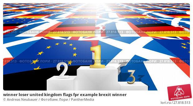 Купить «winner loser united kingdom flags fpr example brexit winner», фото № 27818513, снято 17 ноября 2018 г. (c) PantherMedia / Фотобанк Лори