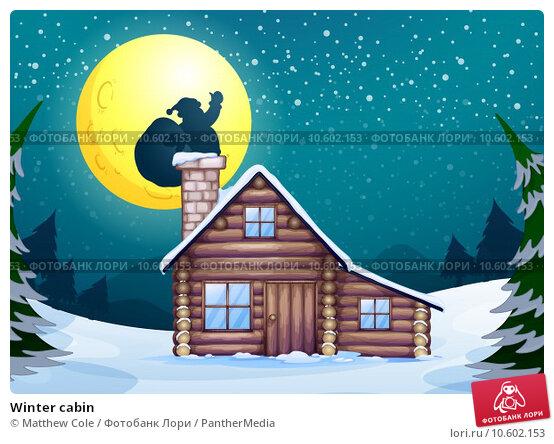 Winter cabin. Стоковая иллюстрация, иллюстратор Matthew Cole / PantherMedia / Фотобанк Лори