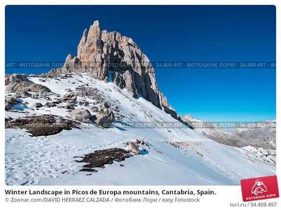 Winter Landscape in Picos de Europa mountains, Cantabria, Spain. Стоковое фото, фотограф Zoonar.com/DAVID HERRAEZ CALZADA / easy Fotostock / Фотобанк Лори