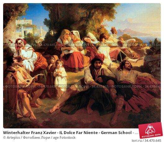 Winterhalter Franz Xavier - IL Dolce Far Niente - German School - ... Редакционное фото, фотограф Artepics / age Fotostock / Фотобанк Лори