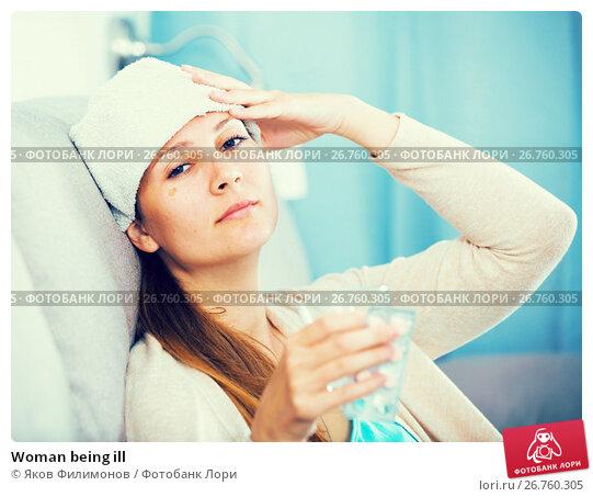 Купить «Woman being ill», фото № 26760305, снято 21 марта 2017 г. (c) Яков Филимонов / Фотобанк Лори
