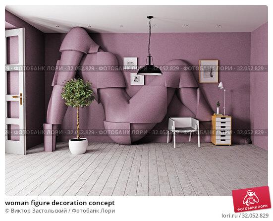 woman figure decoration concept. Стоковое фото, фотограф Виктор Застольский / Фотобанк Лори