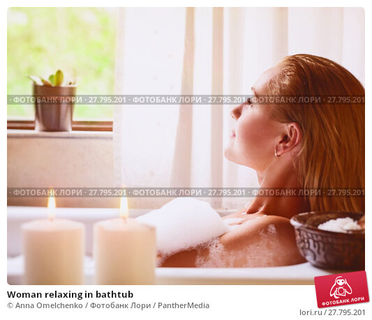 Купить «Woman relaxing in bathtub», фото № 27795201, снято 20 октября 2018 г. (c) PantherMedia / Фотобанк Лори