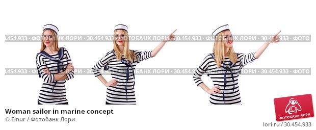 Woman sailor in marine concept. Стоковое фото, фотограф Elnur / Фотобанк Лори