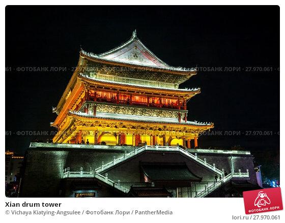 Купить «Xian drum tower», фото № 27970061, снято 11 июля 2020 г. (c) PantherMedia / Фотобанк Лори