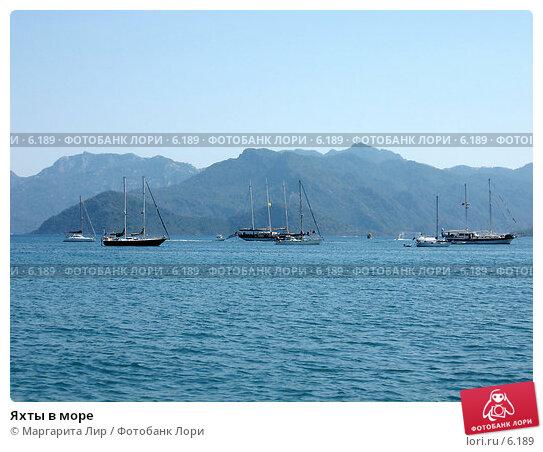 Купить «Яхты в море», фото № 6189, снято 7 июля 2006 г. (c) Маргарита Лир / Фотобанк Лори