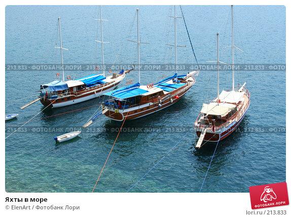 Яхты в море, фото № 213833, снято 26 апреля 2017 г. (c) ElenArt / Фотобанк Лори