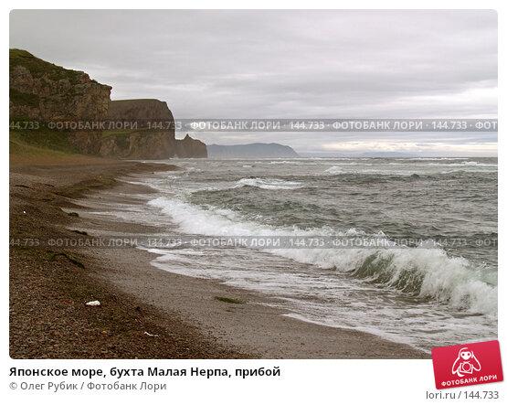 Японское море, бухта Малая Нерпа, прибой, фото № 144733, снято 16 августа 2007 г. (c) Олег Рубик / Фотобанк Лори