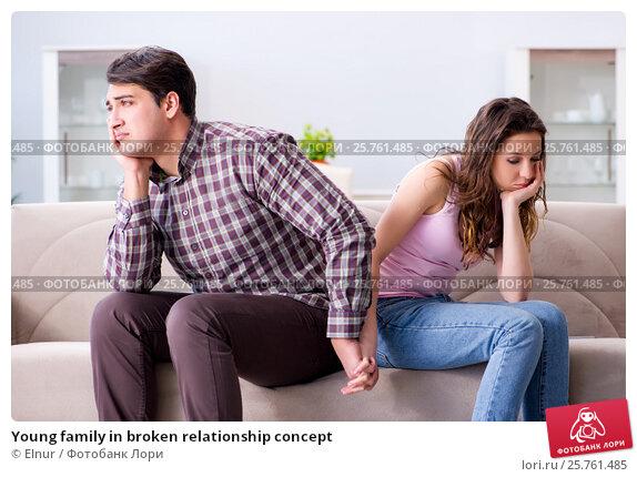 Купить «Young family in broken relationship concept», фото № 25761485, снято 20 декабря 2016 г. (c) Elnur / Фотобанк Лори