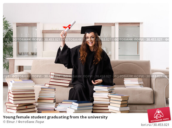 Young female student graduating from the university. Стоковое фото, фотограф Elnur / Фотобанк Лори