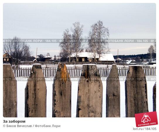 За забором, фото № 184105, снято 3 января 2008 г. (c) Бяков Вячеслав / Фотобанк Лори