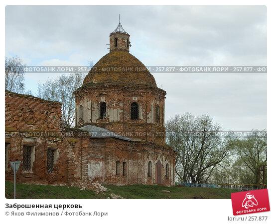 Заброшенная церковь, фото № 257877, снято 19 апреля 2008 г. (c) Яков Филимонов / Фотобанк Лори
