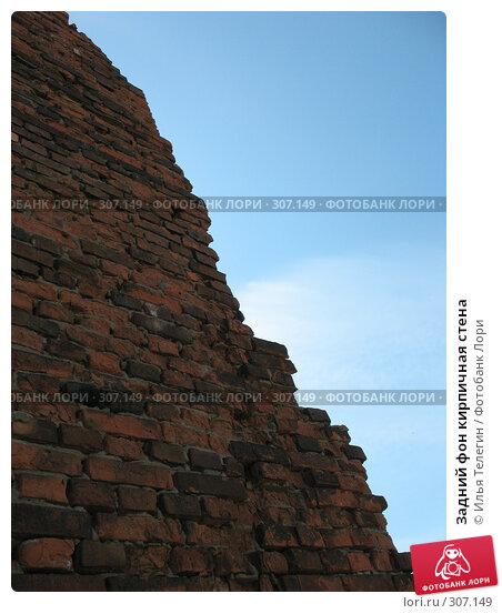 Задний фон кирпичная стена, фото № 307149, снято 25 мая 2008 г. (c) Илья Телегин / Фотобанк Лори