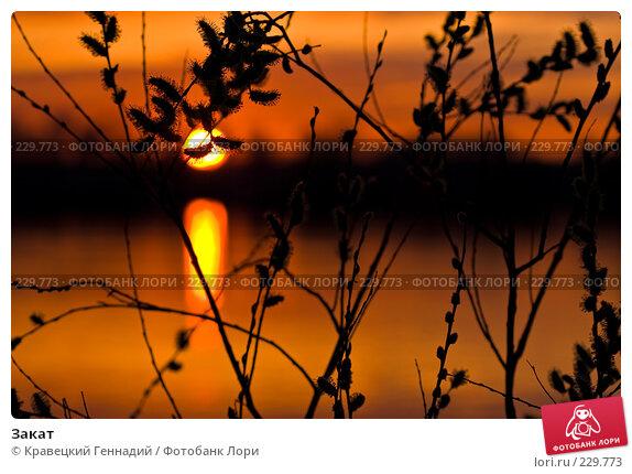Закат, фото № 229773, снято 12 апреля 2004 г. (c) Кравецкий Геннадий / Фотобанк Лори