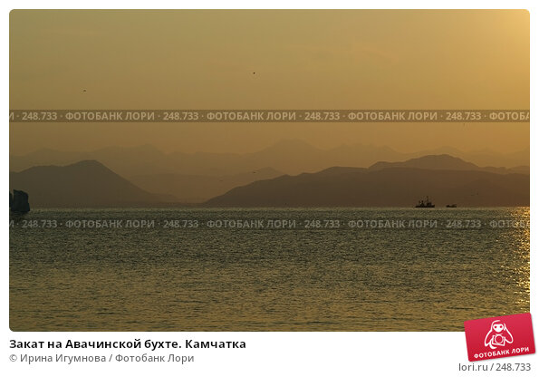 Купить «Закат на Авачинской бухте. Камчатка», фото № 248733, снято 4 сентября 2006 г. (c) Ирина Игумнова / Фотобанк Лори
