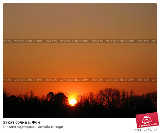 Закат солнца. Фон, фото № 259125, снято 20 апреля 2008 г. (c) Юлия Селезнева / Фотобанк Лори