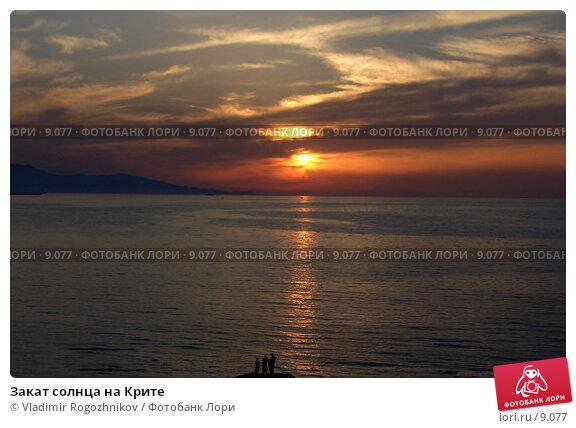 Закат солнца на Крите, фото № 9077, снято 18 июня 2005 г. (c) Vladimir Rogozhnikov / Фотобанк Лори