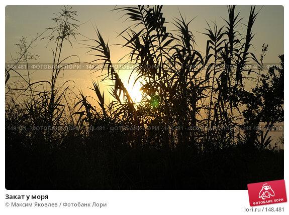 Купить «Закат у моря», фото № 148481, снято 5 сентября 2007 г. (c) Максим Яковлев / Фотобанк Лори