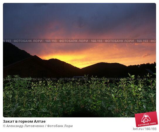 Закат в горном Алтае, фото № 160193, снято 5 августа 2007 г. (c) Александр Литовченко / Фотобанк Лори