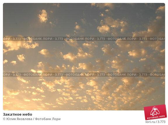 Закатное небо, фото № 3773, снято 4 июня 2006 г. (c) Юлия Яковлева / Фотобанк Лори