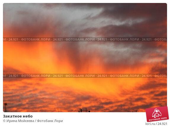 Купить «Закатное небо», эксклюзивное фото № 24921, снято 2 декабря 2005 г. (c) Ирина Мойсеева / Фотобанк Лори