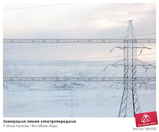Купить «Замерзшая линия электропередачи», фото № 169025, снято 8 января 2008 г. (c) Илья Телегин / Фотобанк Лори