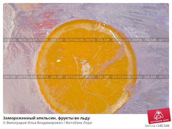 Замороженный апельсин, фрукты во льду, фото № 245549, снято 7 декабря 2007 г. (c) Виноградов Илья Владимирович / Фотобанк Лори