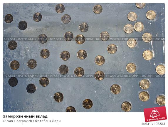 Замороженный вклад, фото № 107561, снято 3 февраля 2007 г. (c) Ivan I. Karpovich / Фотобанк Лори