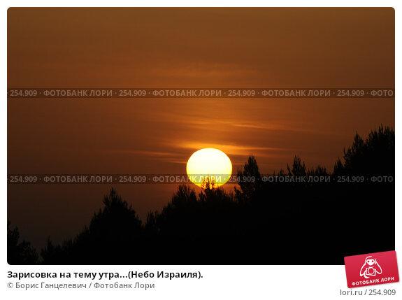 Зарисовка на тему утра...(Небо Израиля)., фото № 254909, снято 18 апреля 2008 г. (c) Борис Ганцелевич / Фотобанк Лори