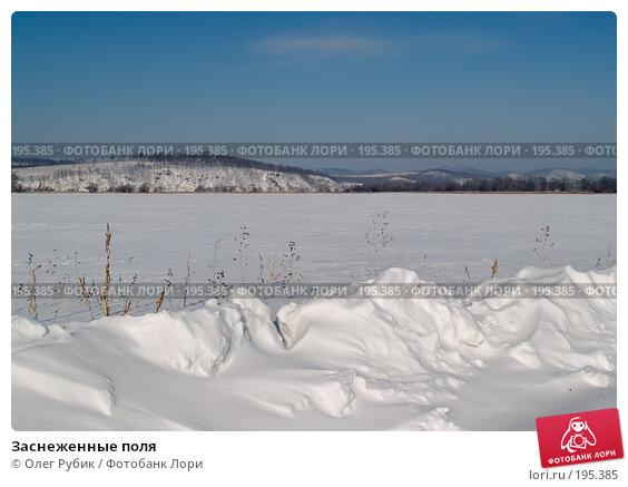 Заснеженные поля, фото № 195385, снято 28 января 2008 г. (c) Олег Рубик / Фотобанк Лори
