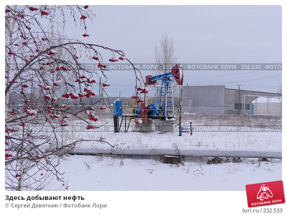 Купить «Здесь добывают нефть», фото № 232533, снято 5 декабря 2007 г. (c) Сергей Девяткин / Фотобанк Лори