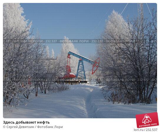 Купить «Здесь добывают нефть», фото № 232537, снято 8 февраля 2008 г. (c) Сергей Девяткин / Фотобанк Лори