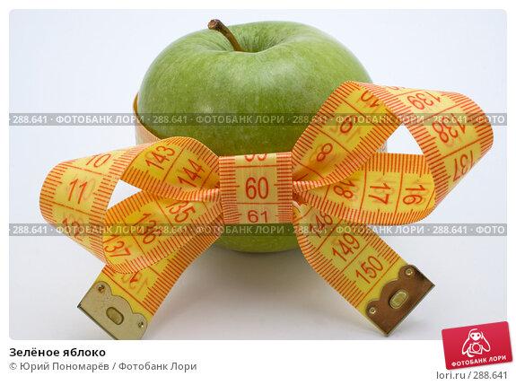 Купить «Зелёное яблоко», фото № 288641, снято 23 апреля 2008 г. (c) Юрий Пономарёв / Фотобанк Лори