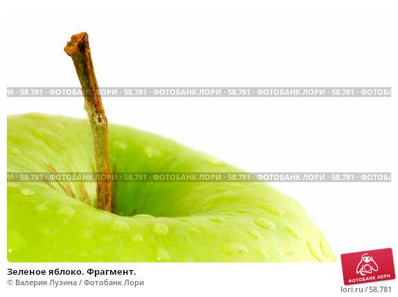 Купить «Зеленое яблоко. Фрагмент.», фото № 58781, снято 26 июня 2007 г. (c) Валерия Потапова / Фотобанк Лори