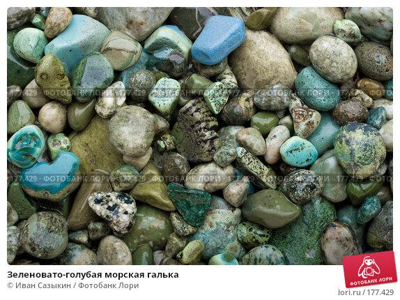 Зеленовато-голубая морская галька, фото № 177429, снято 9 ноября 2007 г. (c) Иван Сазыкин / Фотобанк Лори