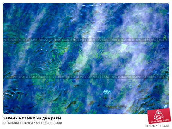 Зеленые камни на дне реки, фото № 171869, снято 28 декабря 2007 г. (c) Ларина Татьяна / Фотобанк Лори