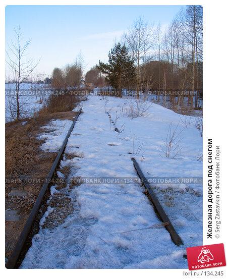 Железная дорога под снегом, фото № 134245, снято 1 апреля 2005 г. (c) Serg Zastavkin / Фотобанк Лори