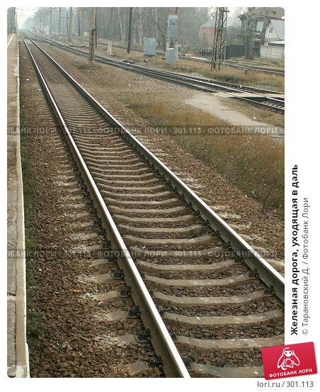 Железная дорога, уходящая в даль, фото № 301113, снято 4 ноября 2005 г. (c) Тарановский Д. / Фотобанк Лори