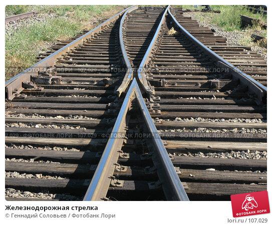 Железнодорожная стрелка, фото № 107029, снято 3 сентября 2007 г. (c) Геннадий Соловьев / Фотобанк Лори