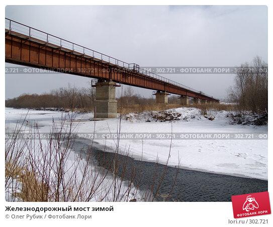 Железнодорожный мост зимой, фото № 302721, снято 16 февраля 2008 г. (c) Олег Рубик / Фотобанк Лори