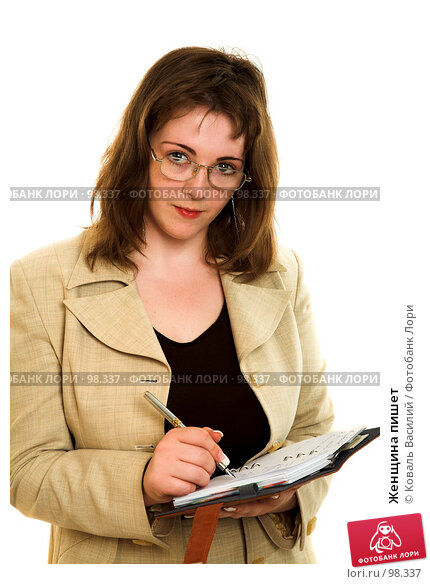 Женщина пишет, фото № 98337, снято 21 июня 2007 г. (c) Коваль Василий / Фотобанк Лори