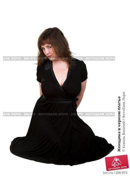 Женщина в черном платье, фото № 200973, снято 19 июля 2007 г. (c) Коваль Василий / Фотобанк Лори