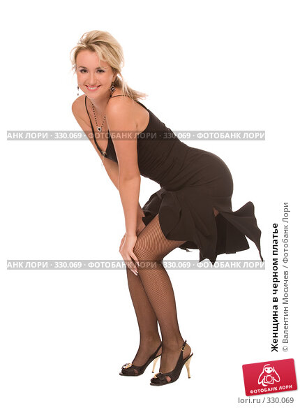 Купить «Женщина в черном платье», фото № 330069, снято 21 июня 2008 г. (c) Валентин Мосичев / Фотобанк Лори