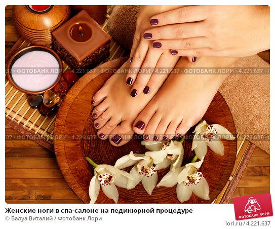 Купить «Женские ноги в спа-салоне на педикюрной процедуре», фото № 4221637, снято 17 января 2013 г. (c) Валуа Виталий / Фотобанк Лори