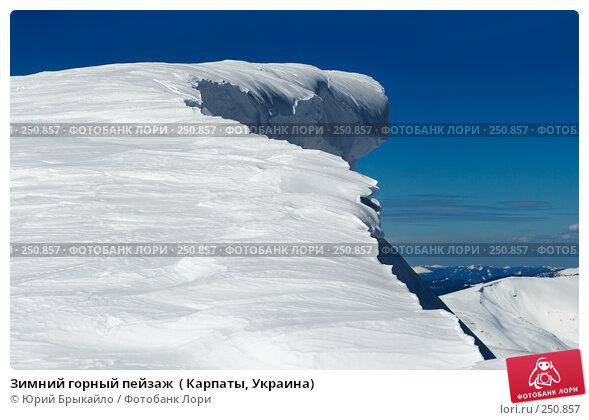 Зимний горный пейзаж  ( Карпаты, Украина), фото № 250857, снято 26 марта 2017 г. (c) Юрий Брыкайло / Фотобанк Лори
