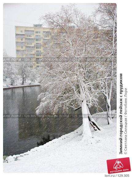 Зимний городской пейзаж с прудиком, фото № 129305, снято 15 октября 2007 г. (c) Светлана Силецкая / Фотобанк Лори