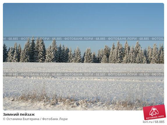 Зимний пейзаж, фото № 68885, снято 29 ноября 2006 г. (c) Останина Екатерина / Фотобанк Лори