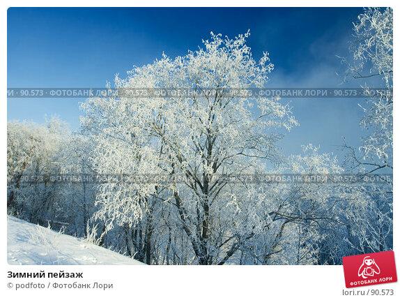 Зимний пейзаж, фото № 90573, снято 24 февраля 2007 г. (c) podfoto / Фотобанк Лори